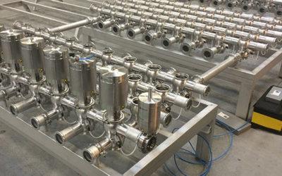 Fremstilling samt montering af Ventilmatrix for mixersystem