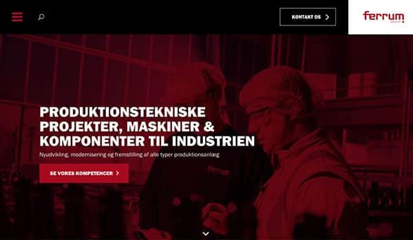 Ferrum får igen nyt website